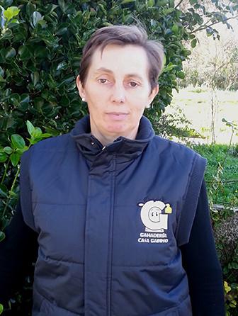 María José, trabajadora de Ganadería Casa Gabino